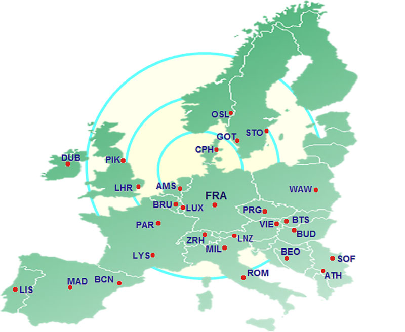 RFS (Trucking) and warehouse services provided into and from 80 stations in Europe